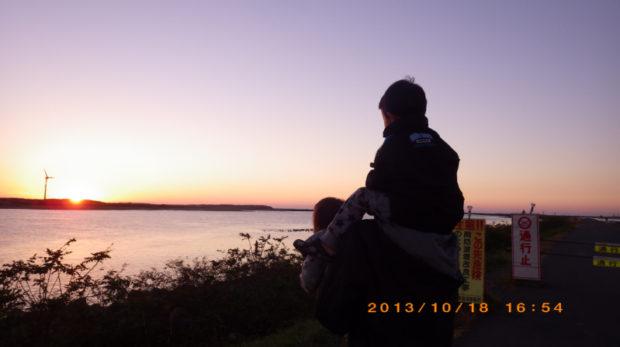 酒田の夕日